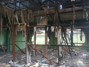 Sede do Comtran ficou destruída. (Foto: Inácio Gonzaga)