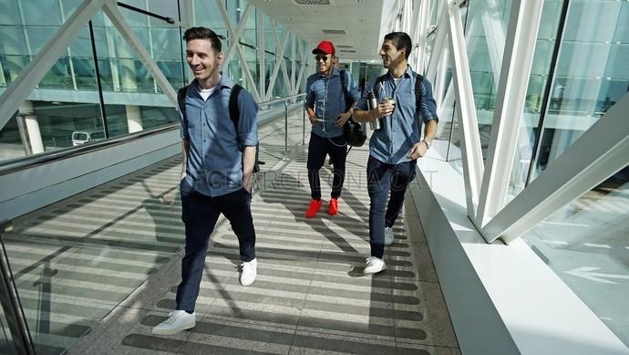 Neymar viagem Barcelona (Foto: Divulgação/Barcelona)