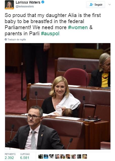 A senadora Larissa Walters se pronunciou em suas redes sociais (Foto: Reprodução / Twitter)