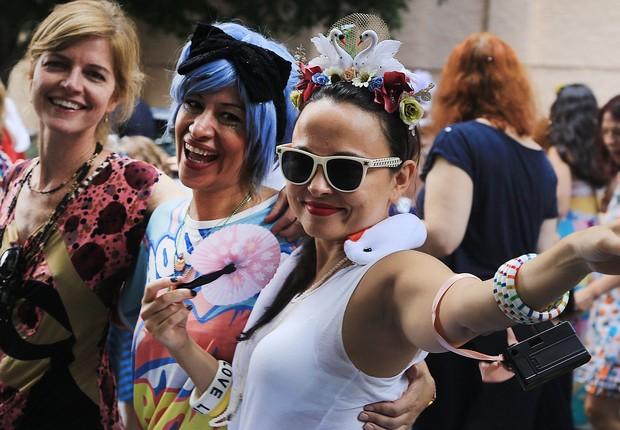 Bloco Filhos da Foto desfila no centro de São Paulo, em programação do carnaval de rua na capital paulista (Foto: Bloco Filhos da Foto)