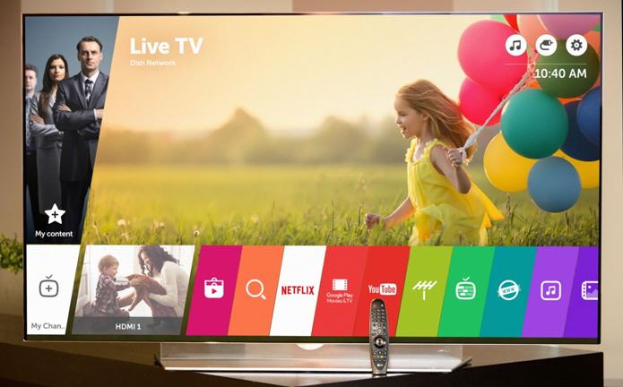 WebOS da LG está disponível em TVs de 32 a 105 (Foto: Divulgação/LG)