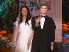Ellen DeGeneres se fantasia de Amal Alamuddin, mulher de Clooney