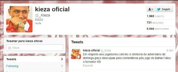 twitter kieza (Foto: Reprodução)