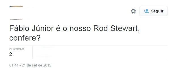 Memes com Rod Stewart (Foto: Reprodução/Twitter)