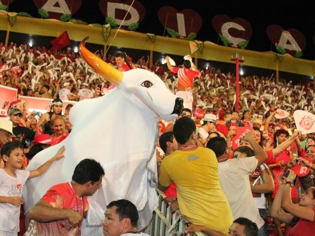 Boi-bumbá levou a galera ao delírio (Foto: Frank Cunha/G1 AM)
