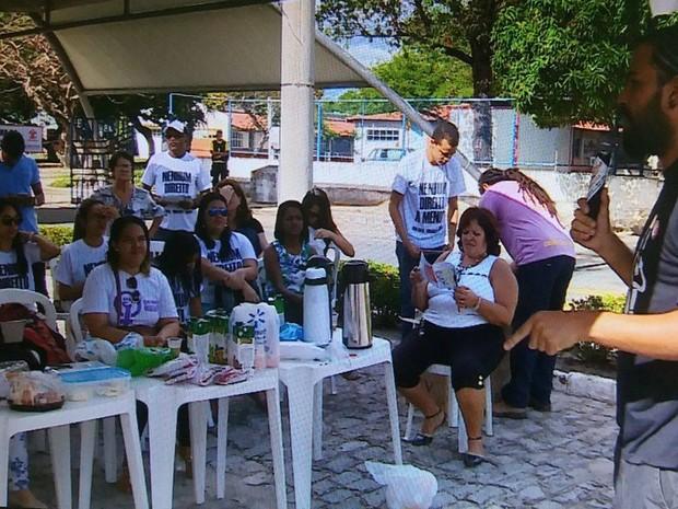 Manifestantes são contra reforma na Previdência (Foto: TV Sergipe/Reprodução)
