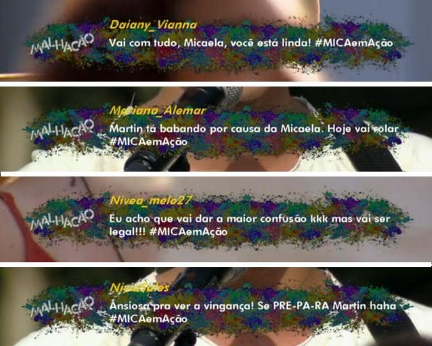 Comentários na TV! (Foto: Malhação / TV Globo)