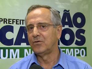 Prefeito de São Carlos Paulo Altomani fala sobre perda de Campeonato Mundial de Balonismo (Foto: Paulo Chiari/EPTV)