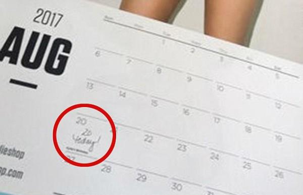 Calendário Kylie Jenner (Foto: Reprodução Twitter)