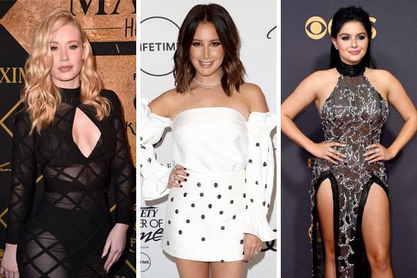 Iggy Azalea, Ashley Tisdale e Ariel Winter fizeram plástica antes mesmo de soprar as 30 velinhas sobre o bole (Foto: Getty Images)
