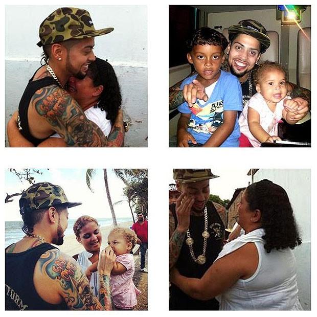 David Correy e a família brasileira (Foto: Reprodução/Facebook)