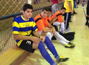 Lucas Arruda é goleiro reserva e amigo de Marcos Vinícius - Tocantins (Foto: Vilma Nascimento/GloboEsporte.com)
