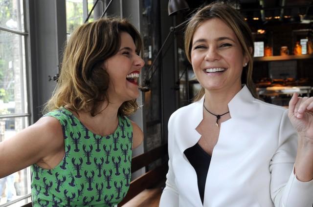 Simone Zuccolotto com Adriana Esteves (Foto: Juliana Torres)