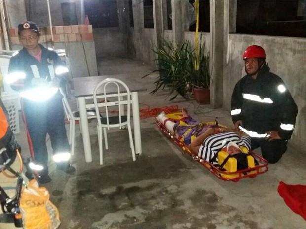 Acidente ocorreu no fim da tarde desta segunda-feira (30) (Foto: Divulgação/Corpo de Bombeiros)