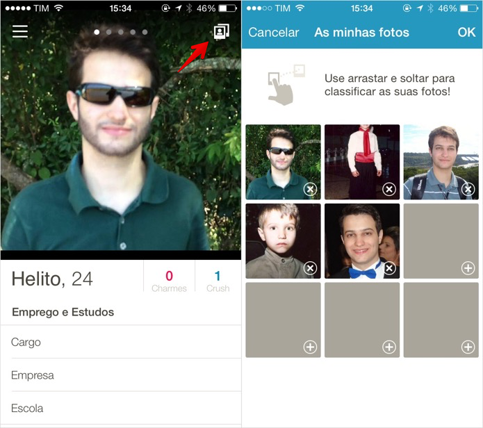 Alterando informações do perfil (Foto: Reprodução/Helito Bijora)