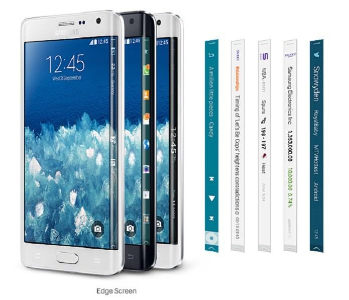 Galaxy Note Edge tem player, notificações e Twitter para tela lateral (Foto: Divulgação/Samsung)