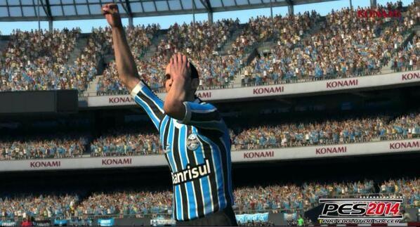 barcos gol videogame (Foto: Reprodução/Twitter Grêmio)