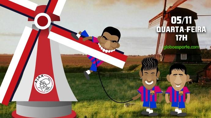 Barcelona x Ajax (Foto: Infoesporte)