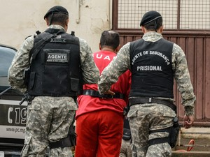 Suspeito foi ouvido na tarde desta quinta-feira  em Araxá (Foto: Willian Tardelli)