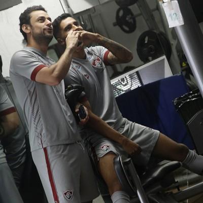 Fred e Giovanni Fluminense (Foto: Nelson Perez/Fluminense FC)