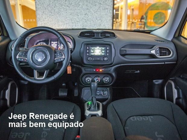 Interior do Jeep Renegade é bem construído (Foto: André Paixão/G1)