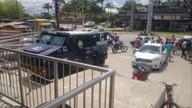 Homens assaltam carro-forte em agência bancária em Ponte dos Carvalhos, no Cabo