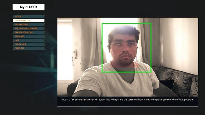 Escaneie o seu rosto com a câmera (Foto: Thiago Barros)