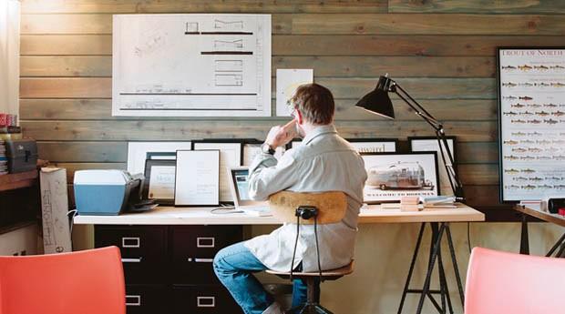 Tenha sempre um espaço separado para seu escritório em casa  (Foto: Divulgação)