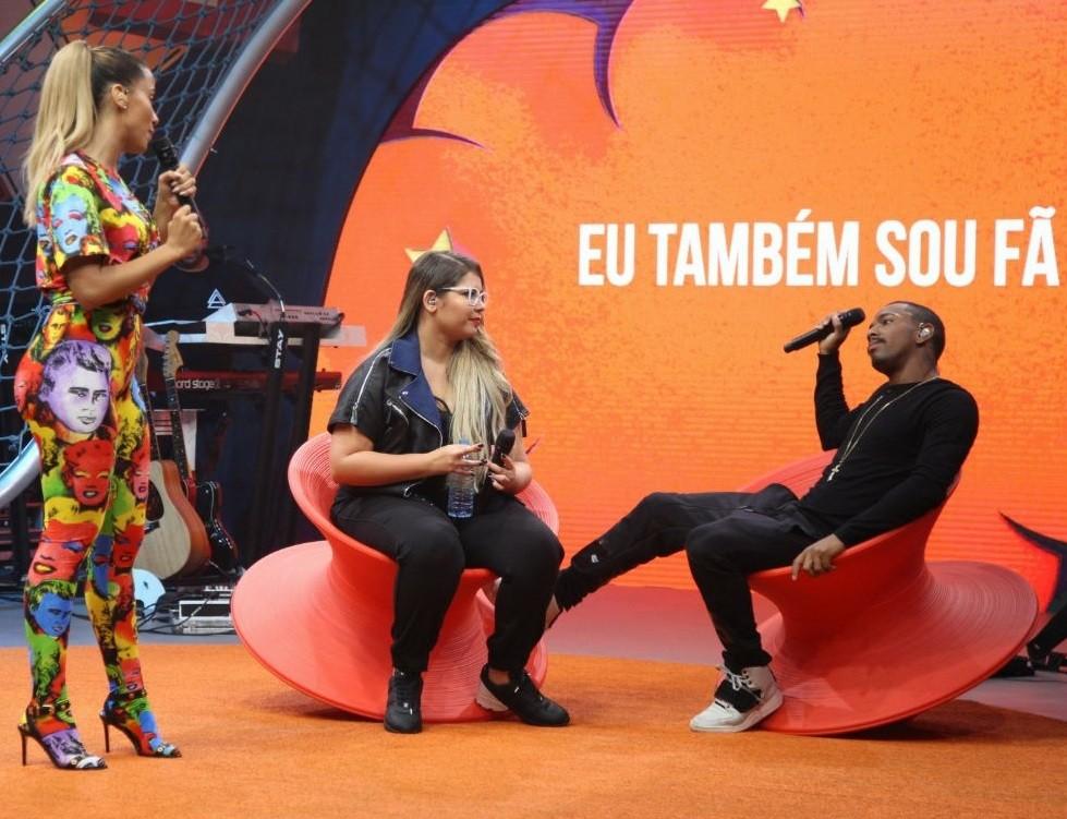 Nego do Borel pirou com as brincadeiras e desafios do Anitta Entrou no Grupo (Foto: Fabiano Leone/Multishow)