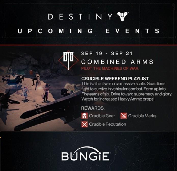 Destiny terá um evento durante o fim de semana que dará diversos itens como recompensa. (Foto: Reprodução/ Bungie)