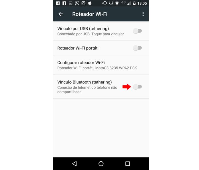 Conexão Bluetooth deve ser ativada no celular (Foto: Reprodução/Ana Marques)