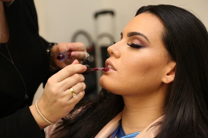 E a maquiagem bapho da Letícia Lima? (Foto: Carol Caminha/Gshow)