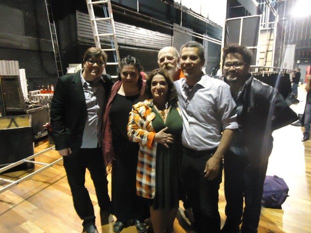 Vencedores do concurso cultural tiraram fotos e conheceram os artistas de pertinho (Foto: Divulgação/RPC TV)  (Foto: Divulgação/RPC TV)