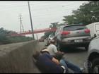 Vídeo mostra pânico entre motoristas em tiroteio na Linha Vermelha, no Rio