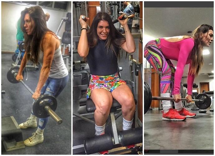 Cantora Simony fala de corpo após sete meses de treino (Foto: Arquivo Pessoal)