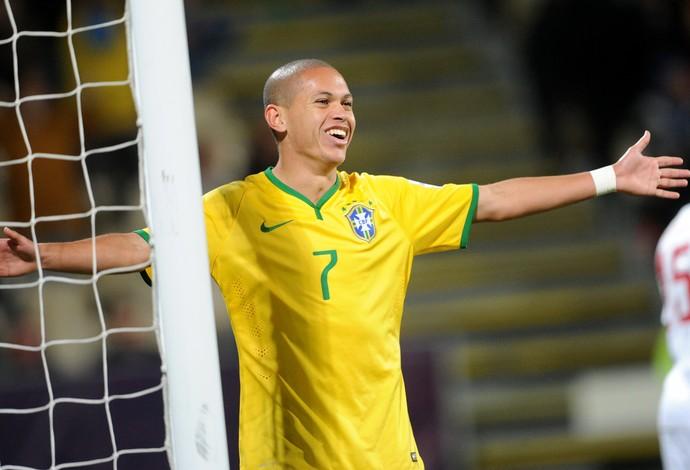 Brasil x Senegal Mundial sub-20 Marcos Guilherme - AP (Foto: AP)