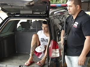 Gullit Fernandes de Oliveira foi preso em Minas Gerais e transferido para Campinas (Foto: Reprodução EPTV)