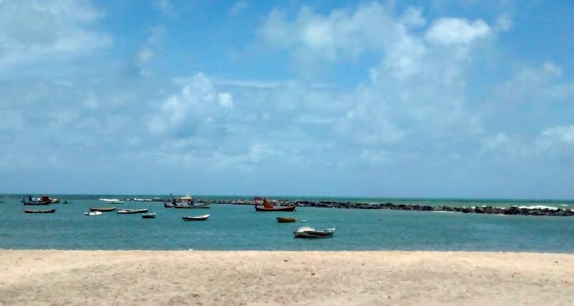 Praia de Olinda, em Pernambuco (Foto: Barbara Bigarelli)