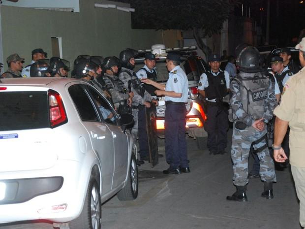 Autoridades da segurança público desembarcaram em Sobral na terça-feira (Foto: Divulgação)