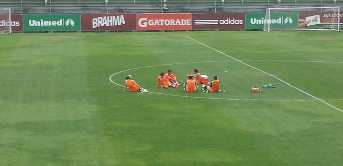 Jogadores Fluminense campo (Foto: Richard Souza)