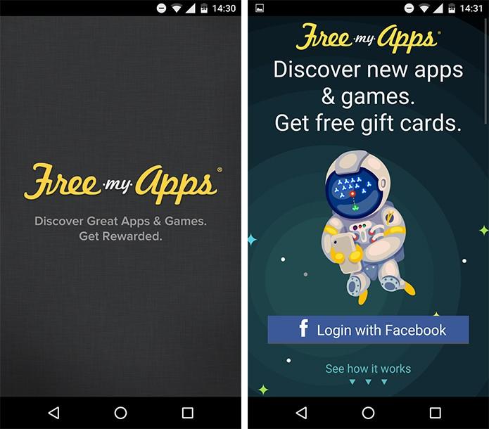 FreeMyApps troca pontos por vale presente da Google Play e outros. (Foto: Reprodução/Alessandro Junior)