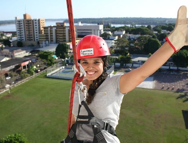 Carina Carvalho, integrante do Amazônia Vertical (Foto: Michele Carvalho)