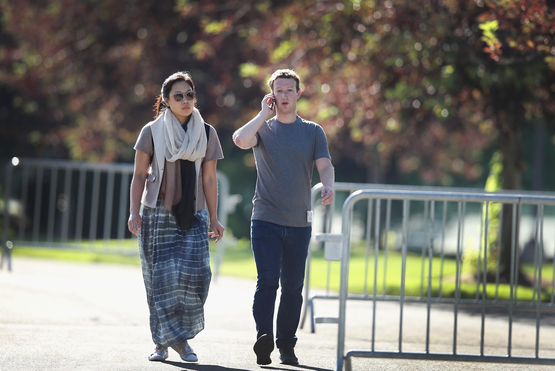Mark Zuckerberg e sua esposa, Patricia Chang (Foto: Getty Images/ Scott Olson )