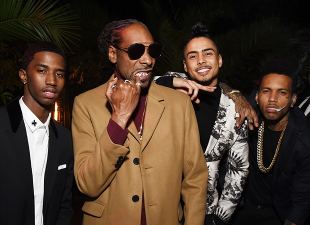 LOS ANGELES, CA - DECEMBER 07:  (L-R) Christian Casey Combs, Snoop Dogg, Quincy Brown, and Kid Ink attend the 2017 GQ Men of the Year Party  at Chateau Marmont on December 7, 2017 in Los Angeles, California.  (Photo by Michael Kovac/Getty Images for GQ) * (Foto: Getty Images for GQ)