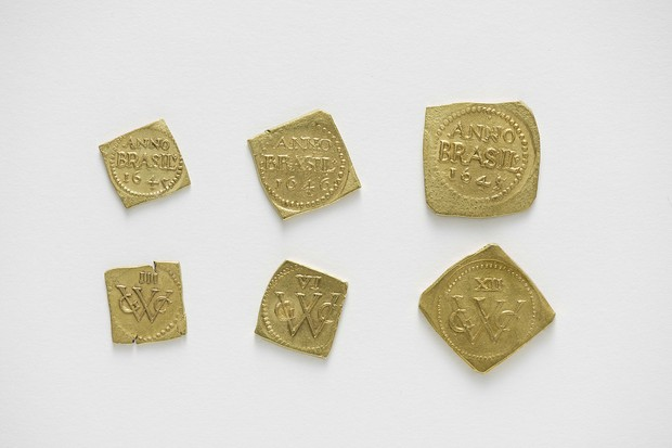 Obsidionais holandesas, as primeiras moedas de ouro cunhadas no Brasil (1645 e 1646) (Foto: Edouard Fraipont)