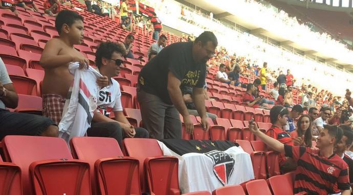 Flamengo x São Paulo, Mané Garrincha (Foto: Reprodução)