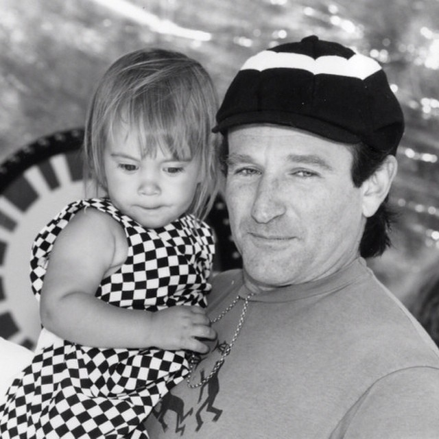 Robin Williams e a filha, Zelda (Foto: Reprodução/Instagram)