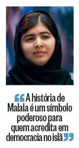 """""""A história de Malala é um símbolo poderoso para quem acredita em democracia no islã"""" (Foto: Mandel NGAN/AFP)"""