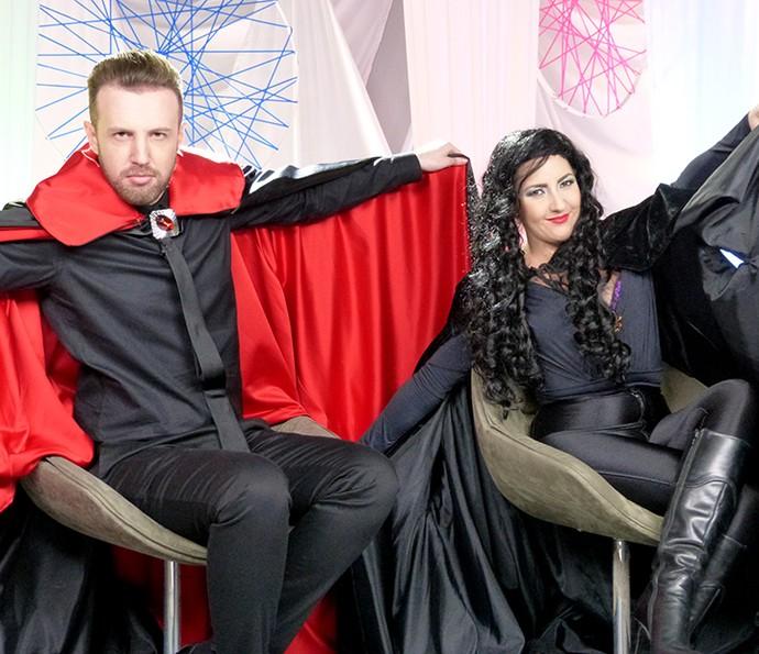 Thiago Pasqualotto e Bic Müller trouxeram Vamp para o Morri na TV (Foto: Gshow)
