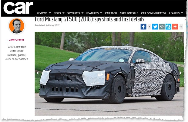 Ford Mustang GT500 flagrado pela Car Magazine (Foto: Reprodução)